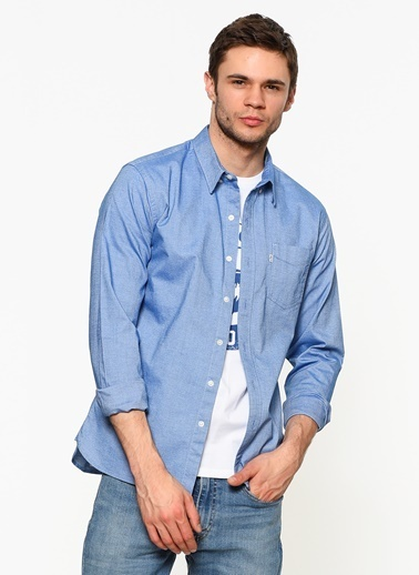 Slim Fit Oxford Yaka Uzun Kollu Gömlek-Levi's®